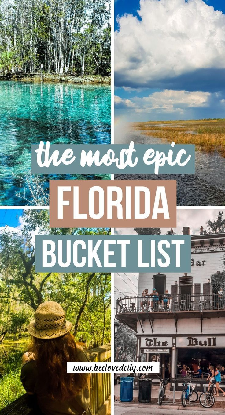 Ultimate Florida Bucket List 76 Experiences You Must Do Beeloved City In 2021 Florida Travel Guide Usa Travel Destinations Florida Travel