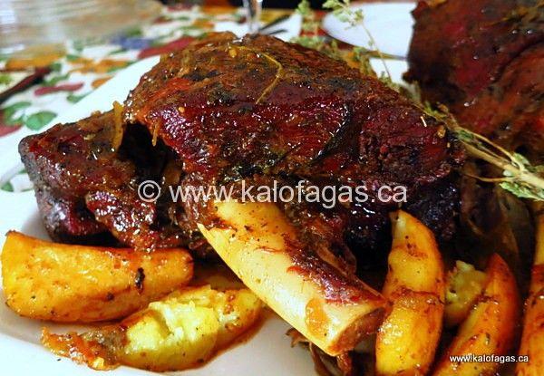 Greek Slow roasted leg of lamb