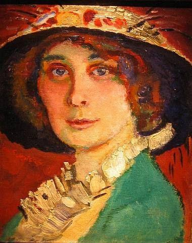 Sluijters, Jan (1881-1941) - Fauvistic Portrait of a Lady Wearing a Hat