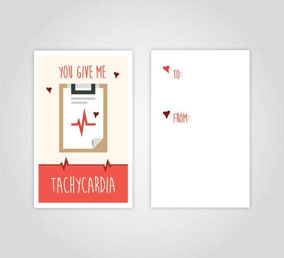 Medical valentines day cards for nurses at https://www.etsy.com/listing/266961125/medical-valentines-day-card-download-you