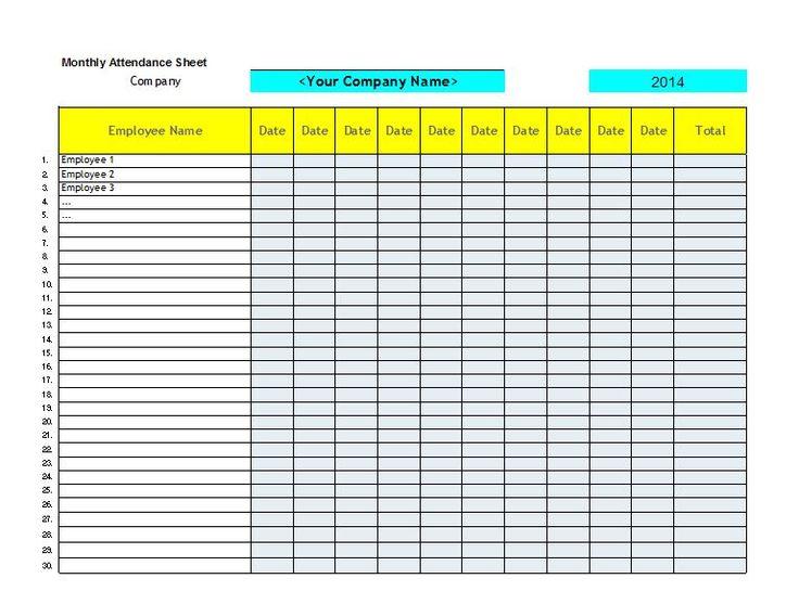 Más de 25 ideas increíbles sobre Attendance sheet in excel en - attendance sheet for employees