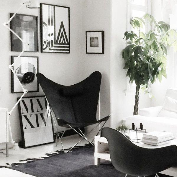 Skórzany Fotel Trifolium   OX DENMARQ. Butterfly Chair