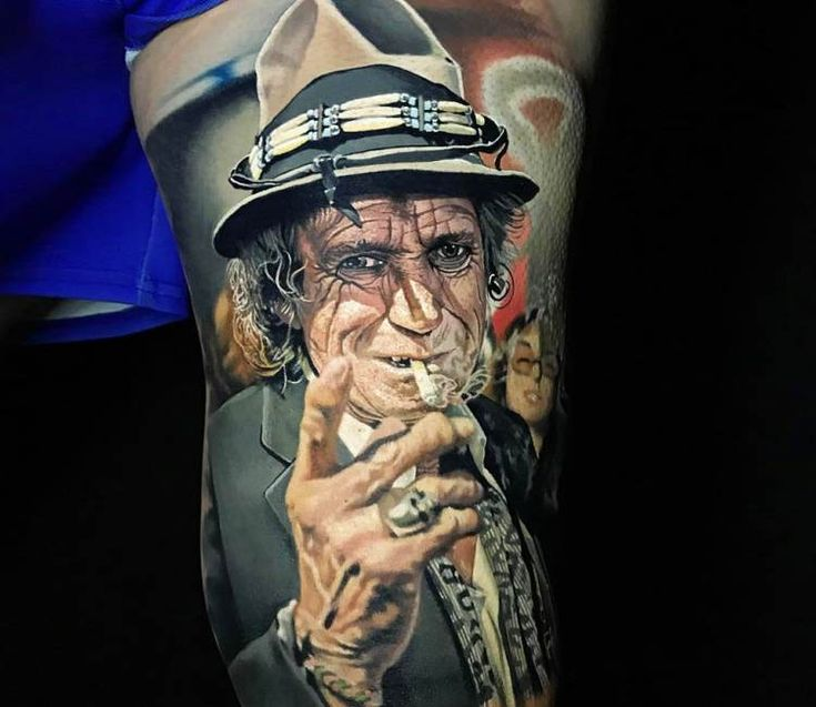 Keith Richards tattoo by Steve Butcher