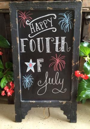 10 Ways to Make Your Own Fireworks for the Fourth: Fireworks Chalkboard Art
