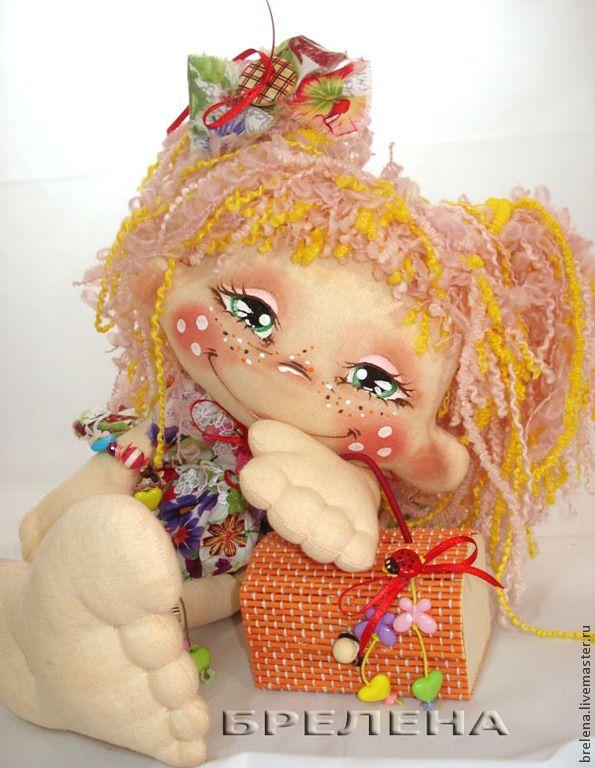 Текстильная кукла Хитрюшка Ксюшка. - разноцветный,интерьерная кукла,текстильная кукла