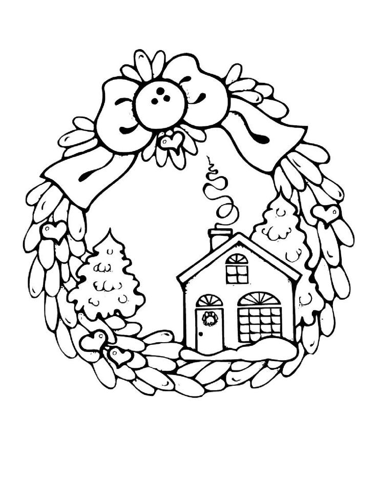 candy houses coloring pages - photo#49