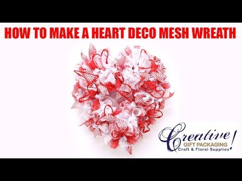 How to make our Valentines Heart Deco Mesh Wreath! by Creative Gift Packaging Inc. – CGP Community