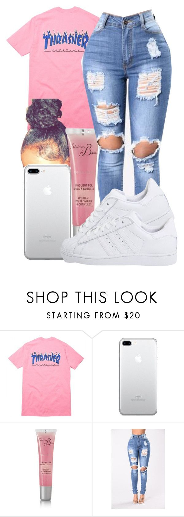 """"" by guwapshawty ❤ liked on Polyvore featuring Révérence de Bastien and adidas Originals"