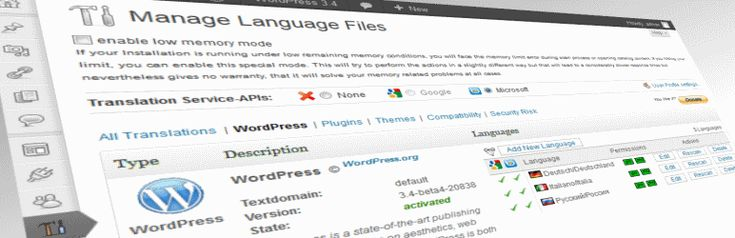 Codestyling Localization - You can manage and edit all gettext translation files (*.po/*.mo) directly out of WordPress Admin Center without any need of an external editor.