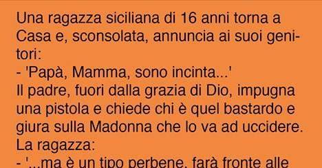 Una ragazza siciliana di 16 anni torna a Casa e, sconsolata, annuncia ai suoi genitori: – 'Papà, Mamma, sono incinta…' Il padre, fuori dalla grazia di Dio, impugna una pistola … CONTINUA A LEGGERE