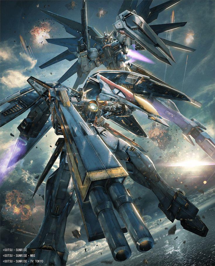 Wing Gundam Zero the Television Version and Freedom Gundam in Gundam Versus.