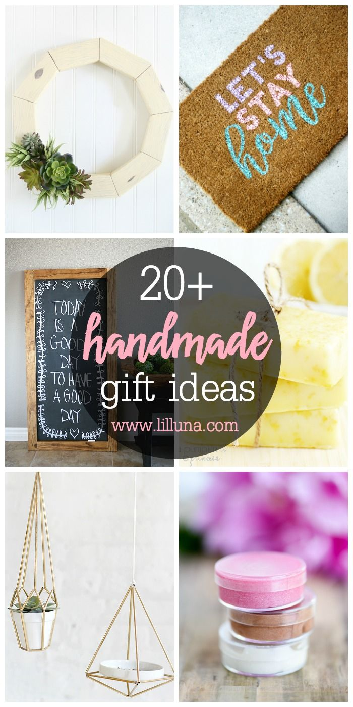 20+ Handmade Gift Ideas - a roundup of awesome gift ideas that you can easily make yourself! See it on { lilluna.com }