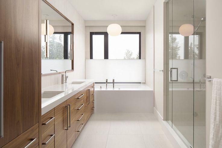 Modern master bath by Johnson Interior Design
