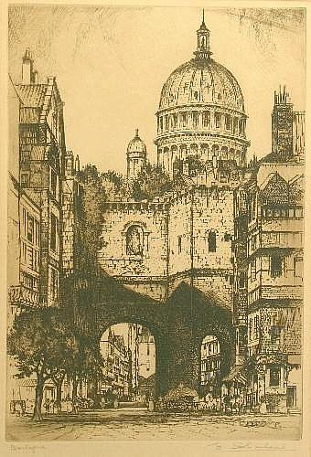 Edward W. Sharland 'Boulogne'; 'Christ Church Cathedral, Oxford'; 'St Mark's, Venice'; 'Bridge of Sighs, Venice' Four engravings Each signed within the margin lower right 40cm x 27.5cm, 40.5cm x 21cm, two 43cm x 27.5cm