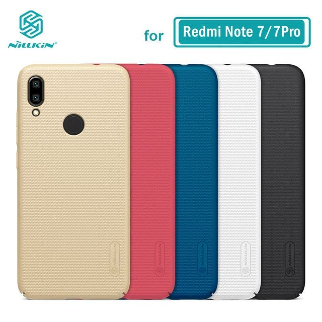 Xiaomi Redmi Note 7 Case Casing Nillkin Frosted Pc Hard Back Cover Case For Xiaomi Redmi Note 7 Pro 6 3 Review Note 7 Case Nillkin