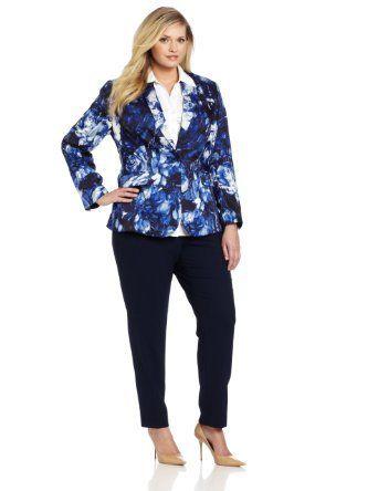 Vince Camuto Women's Plus-Size Floral Blazer