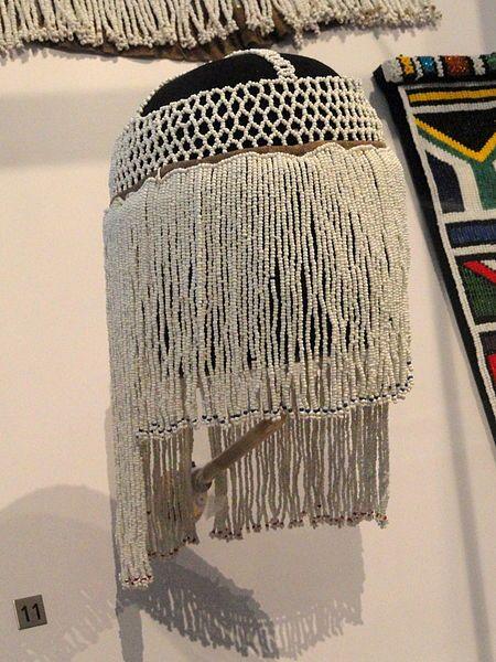 Africa | Isiyaya bridal veil | Ndebele, South Africa |  20th century