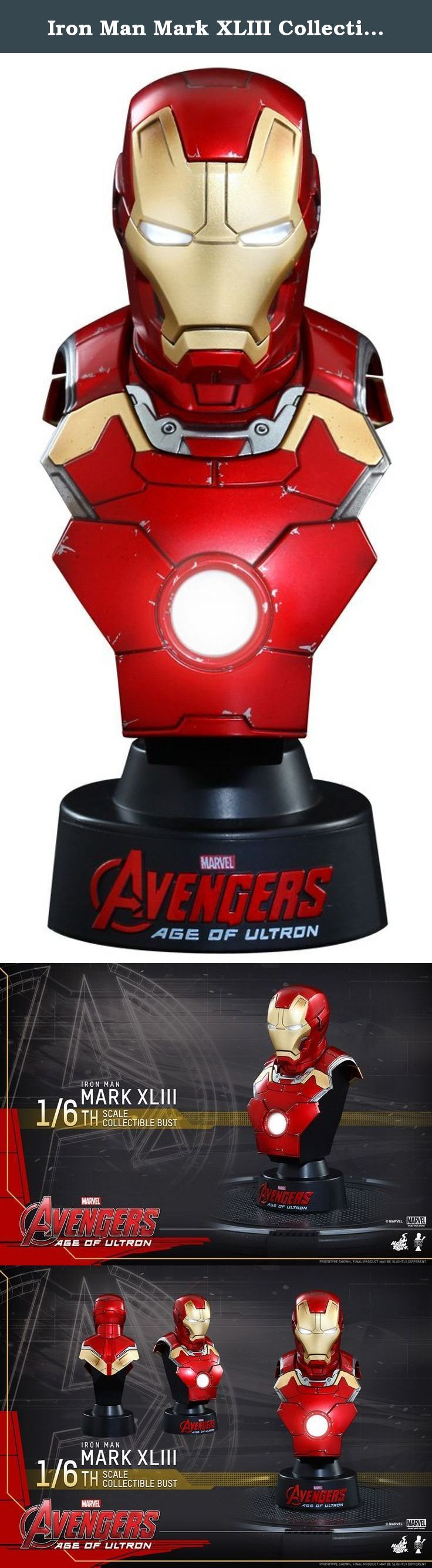 Iron Man Mark XLIII Collectible Bust by Hot Toys 1/6 HTB30 Avenger Age of Ultron MK. In addition to the highly detailed sixth scale figure line based on the adrenaline-pumping blockbuster, Avengers: Age of Ultron, Hot Toys presents the Collectible Bust Series. Sideshow Collectibles and Hot Toys are delighted to introduce the Avengers: Age of Ultron 1/6th Scale Mark XLIII Collectible Bust! The collectible bust is specially created based on the image of the Mark XLIII in the film and…