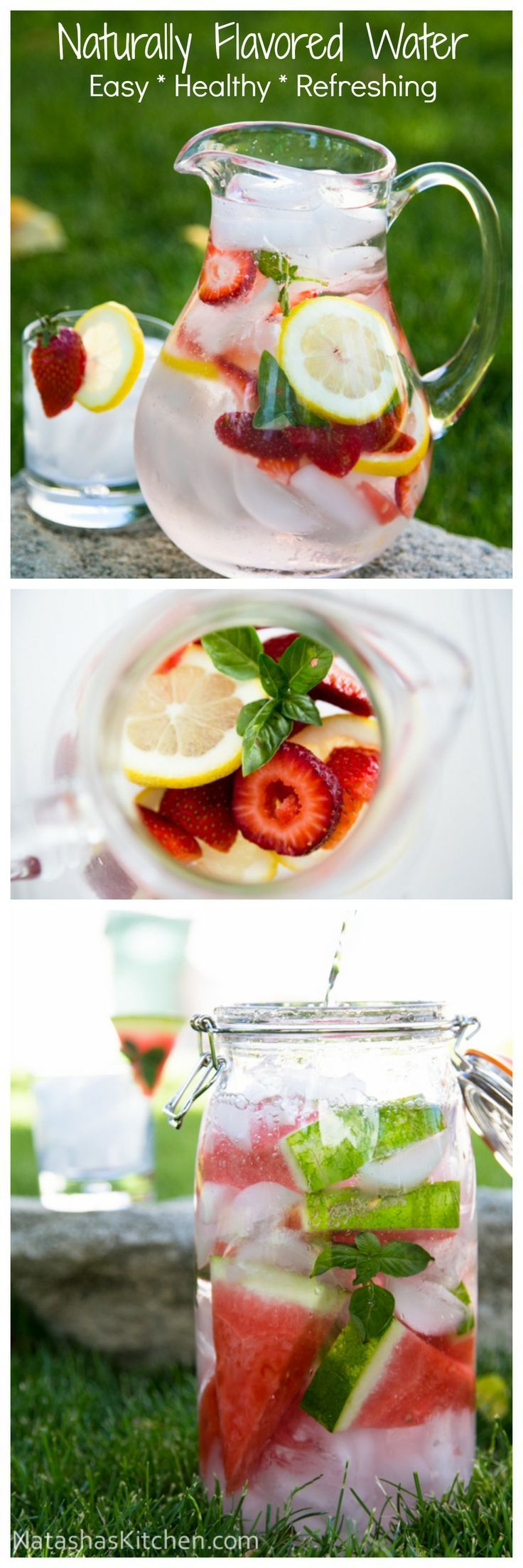 """""""Drinking naturally flavored detox water is the healthy way to get you drinking more water! Detox water is so refreshing. Your waistline will thank you!"""