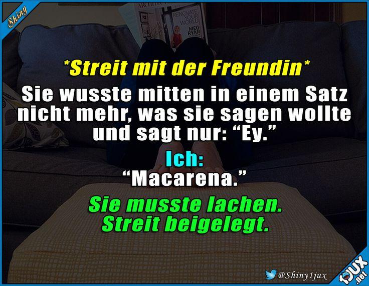 Zack - Streit vorbei :) #lustig #Freundin #lachen #Humor #Sprüche