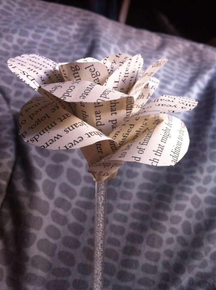 How to Create a Paper Book Flower - a Valentine's Day Idea
