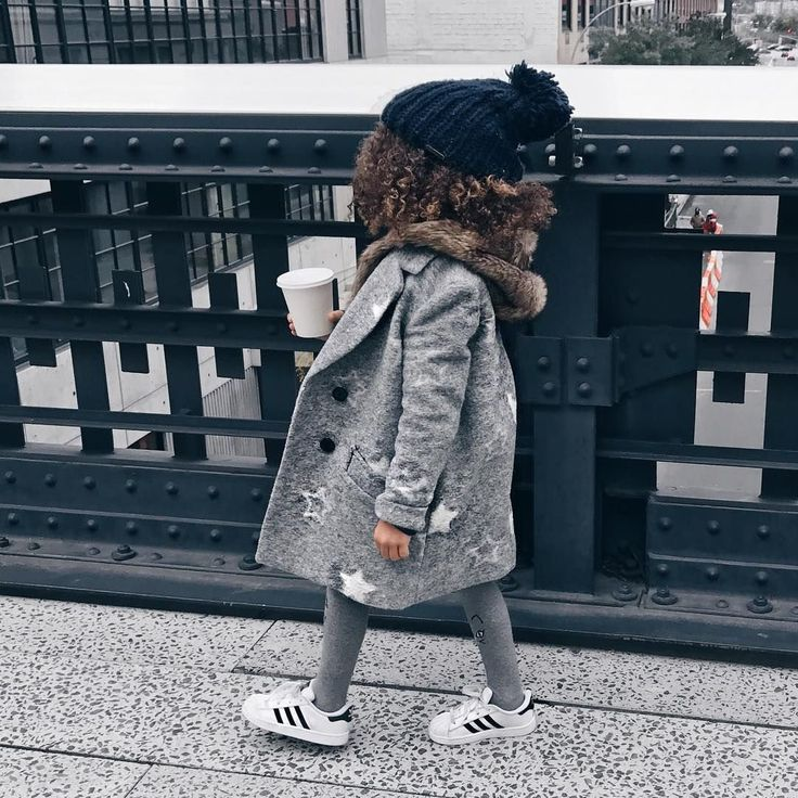Check Out This Little Toddler Fashionista With Her Coffee And All Grey  Ensemble. Layering. Toddler FashionistaBaby StyleGirl ...