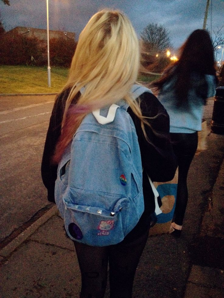 the backpack! maybe i should consider going blonde.