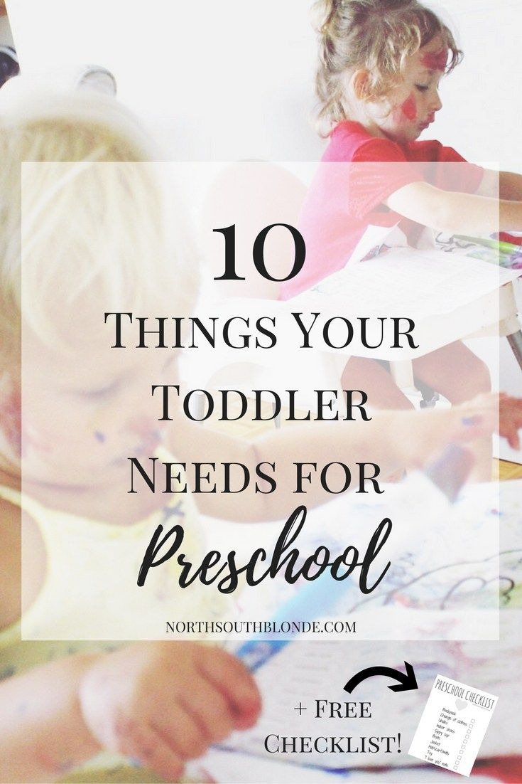 10 Things Your Toddler Needs for Preschool + Free Checklist. Children, school, toddlers, parenting