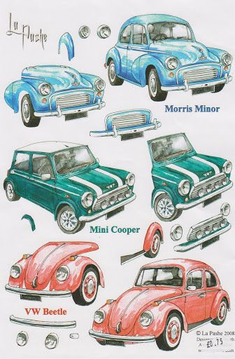 CARS NEW AND OLD 3D - Christine Leigh - Picasa Web Albums - card embelies.
