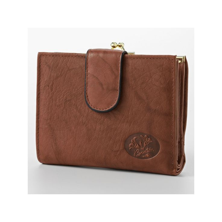 Buxton Heiress Double-Cardex Floral Leather Wallet, Women's, Brown