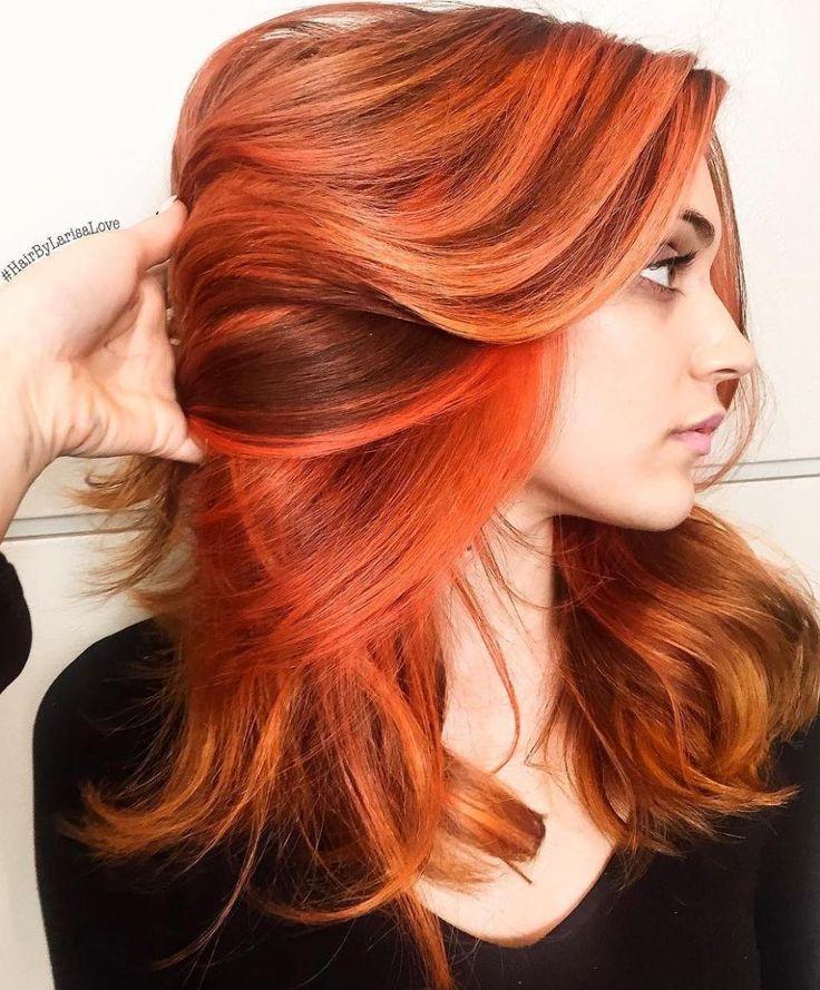 25 Best Auburn Hair Color Ideas For 2019: 25+ Best Ideas About Orange Highlights On Pinterest