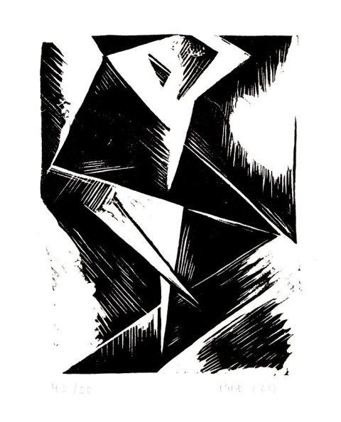 """Stanisław Kubicki, """"Tancerka"""", 1918, linoryt; materiały organizatorastefan szmaj bunt - Szukaj w Google"""