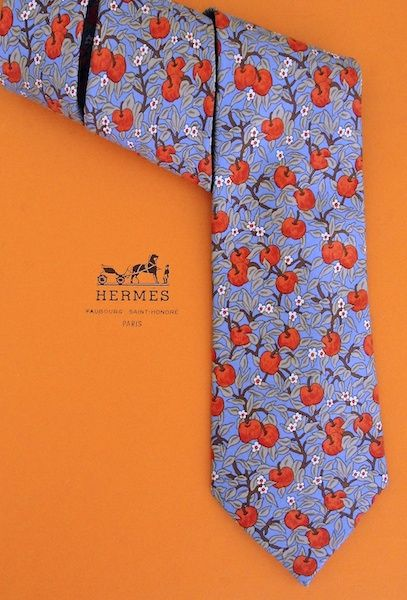 hermes neck tie cherries print mens accessories