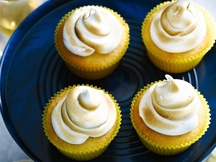 Deliciously lemony and topped with meringue, these divine cupcakes are best served still warm.