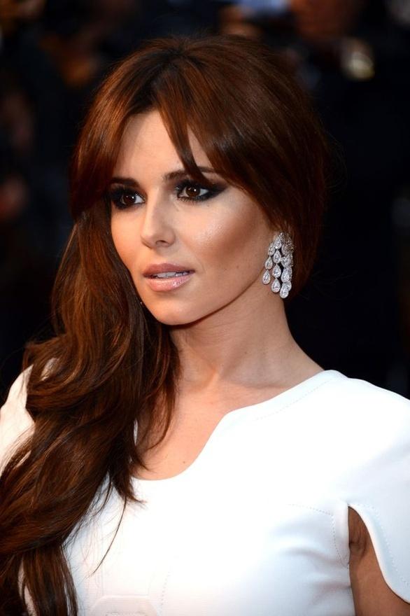 Cheryl Cole's dark copper brown hair