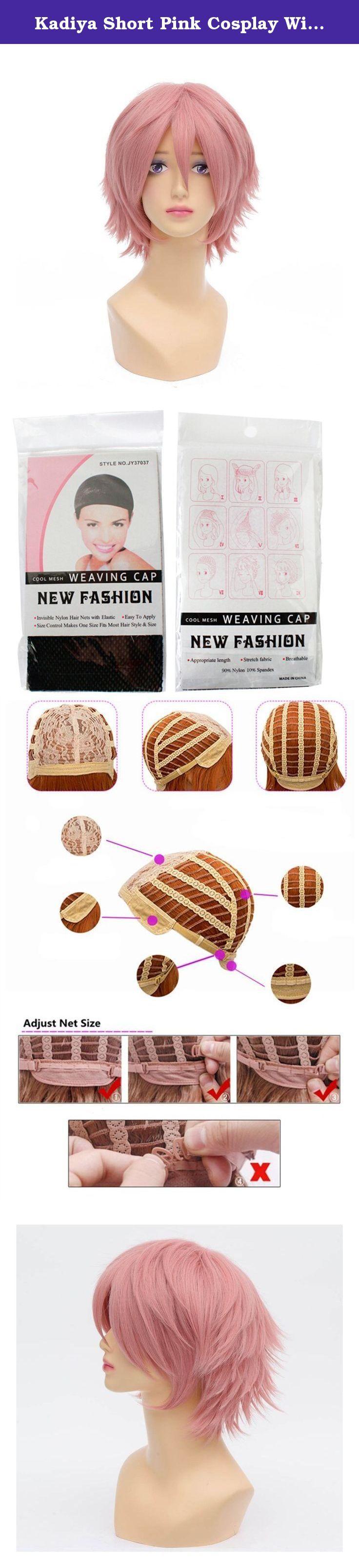 Kadiya Short Pink Cosplay Wig Costume Synthetic Hair Unisex. High Quality Cosplay Costume Wigs.