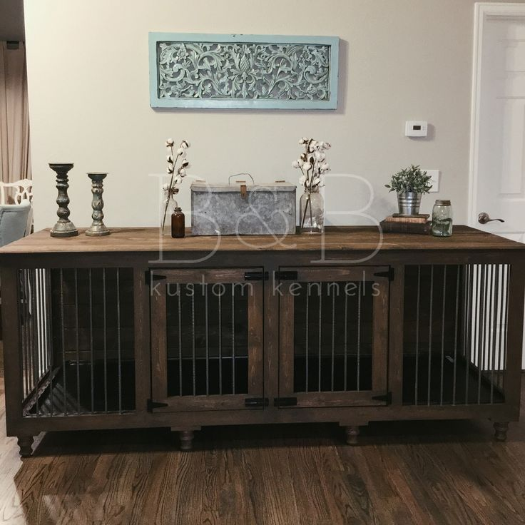 44 best lucy images on pinterest cheap fence ideas dog for Cheap dog crate furniture