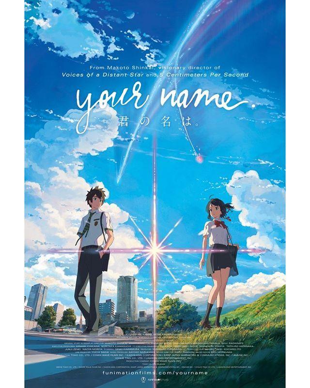 Kimi No Na Wa Movie Poster Anime Blockbuster Blockbusters