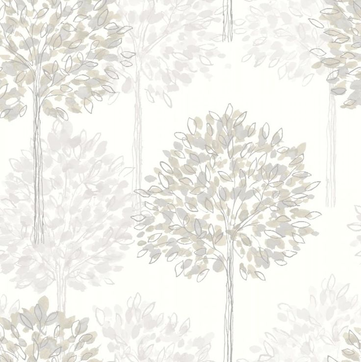 Neutral - Cream / Beige 417905 - Boulevard - Trees - Forest - Arthouse Wallpaper: Amazon.co.uk: DIY & Tools