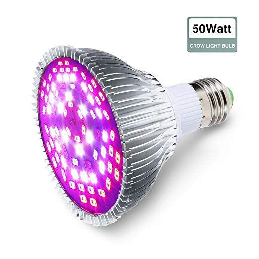 Grow Light Bulb Glime 50w Led Grow Plant Light E27 Growing Lamp P30 Full Spectrum Grow Bulbs For Flowerin Led Grow Light Bulbs Grow Light Bulbs Growing Bulbs