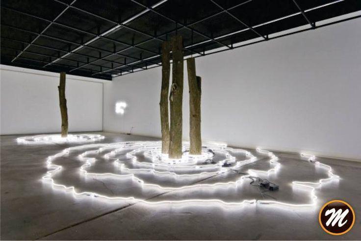 MADERA Y NEÓN UNA COMBINACIÓN POCO PROBABLE | La Iluminación en el Arte