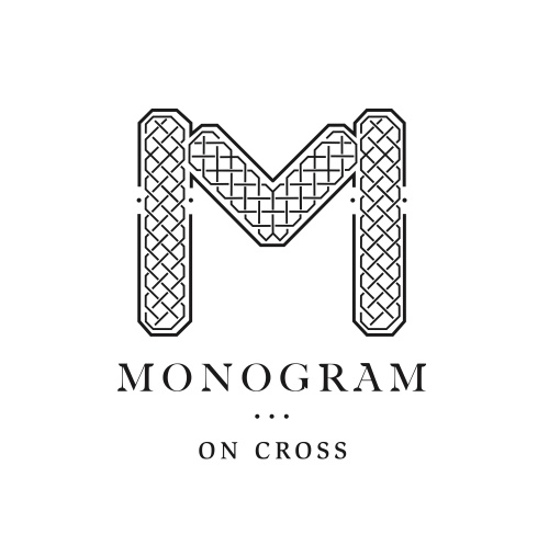 Monogram on Cross logo, designed by Associate for the Ashingtons project, Double Bay, NSW