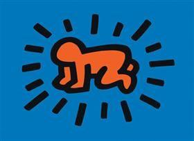 Radiant dítě (od série ikon) - Keith Haring