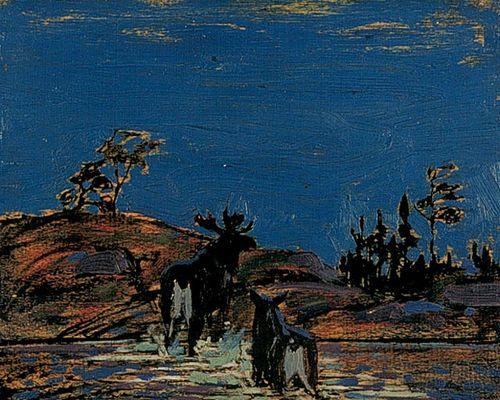 Tom Thomson Moose at Night, 1916