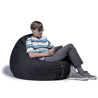 Denim 3 Foot Bean Bag Chair By Jaxx