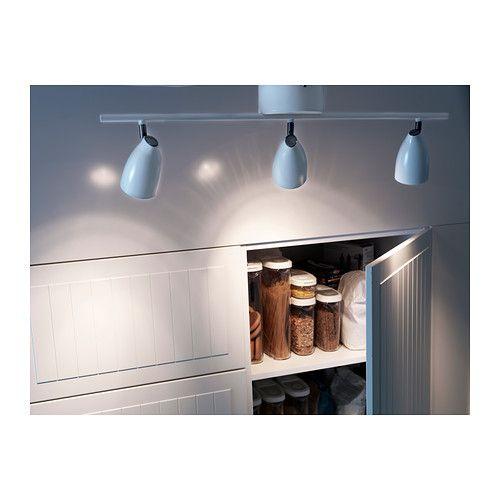 TRÅL Binario da soffitto, 3 faretti IKEA Faretti regolabili.  Light  Pinter...