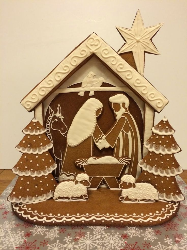 Elaine's Sweet Life: Christmas Party Bakes, Gingerbread Nativity