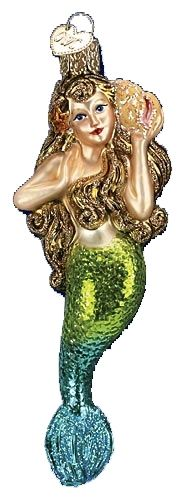 The Jolly Christmas Shop - Old World Christmas Mermaid Glass Christmas Ornament 10196, $12.99 (https://www.thejollychristmasshop.com/old-world-christmas-mermaid-glass-christmas-ornament-10196/)