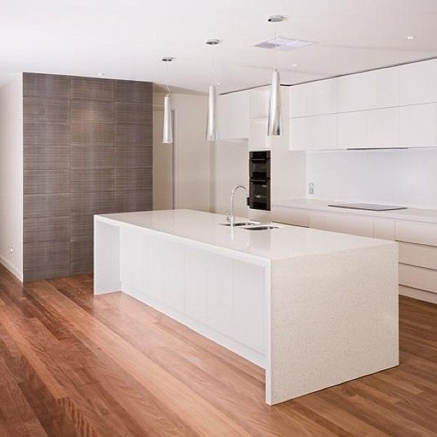 Caesarstone Nougat stonework by www.graniteplanet.com.au  Cabinetry by Precision Cabinets.