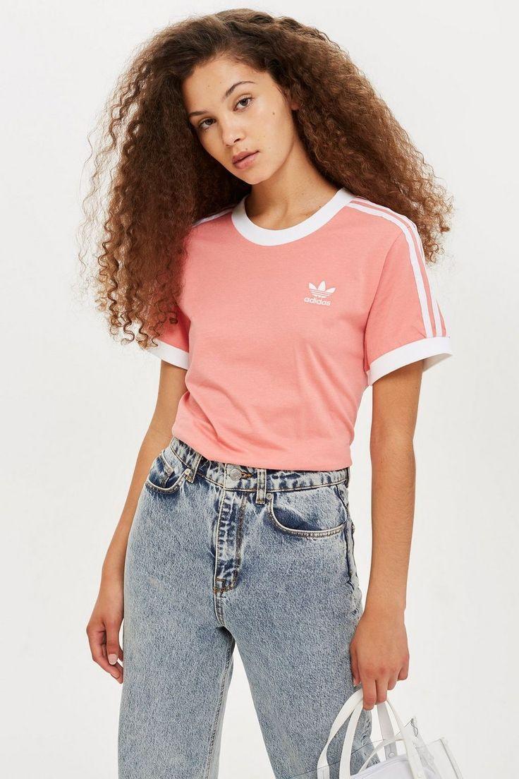 California Pink T Shirt | Adidas shirt women, Addidas shirts